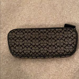 Coach glasses case/makeup bag